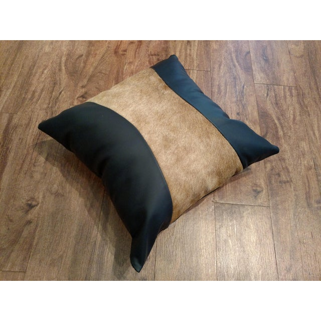 Logan Collection Leather & Cowhide Pillow - Image 2 of 5