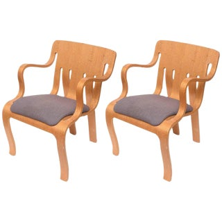 Thonet Plywood Armchairs - Pair