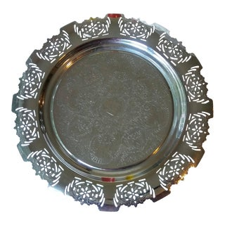 Art Deco Round Chrome Serving Tray