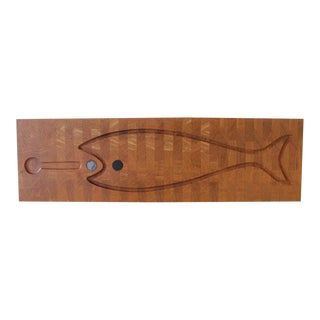 Digsmed of Denmark Large Teak Fish Serving Tray