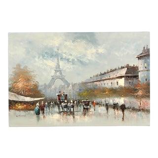 Paris City Street Original Oil Painting