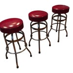Image of Vintage Soda Fountain Stools With New Seats
