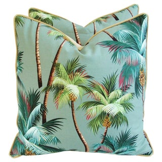 Oasis Palm Tree Pillows - A Pair