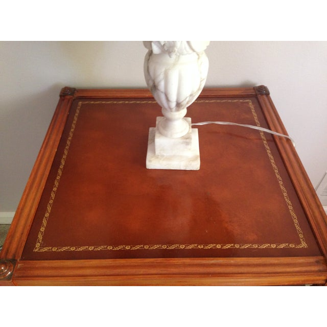 Drexel Mahogany and Leather Side Table - Image 3 of 4