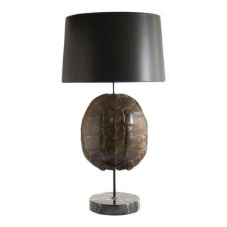 1980's Tortoise Shell Table Lamp