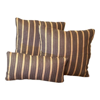 Rogers & Goffigon Linen Striped Pillows - Set of 3