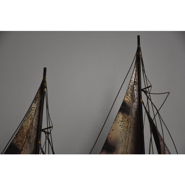 Curtis Jere Sailboat Wall Hanging Sculpture - Image 5 of 11