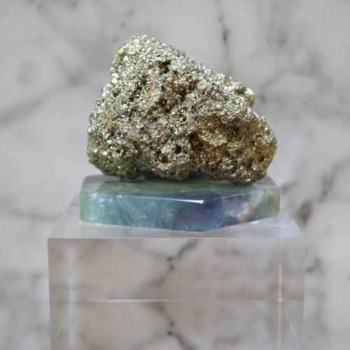 Image of Pyrite Flourite and Lucite Paperweight