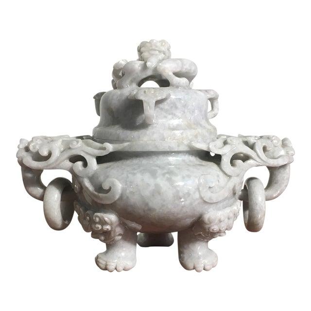 Chinese Gray Nephrite Jade Censer, mid 20th century - Image 1 of 9