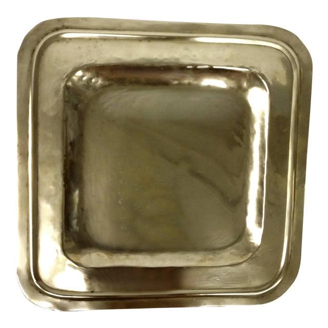 Vintage Square Brass Platter - Image 1 of 7