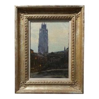 "Anna Brewster ""The Boston Stump"" Original Oil Painting"
