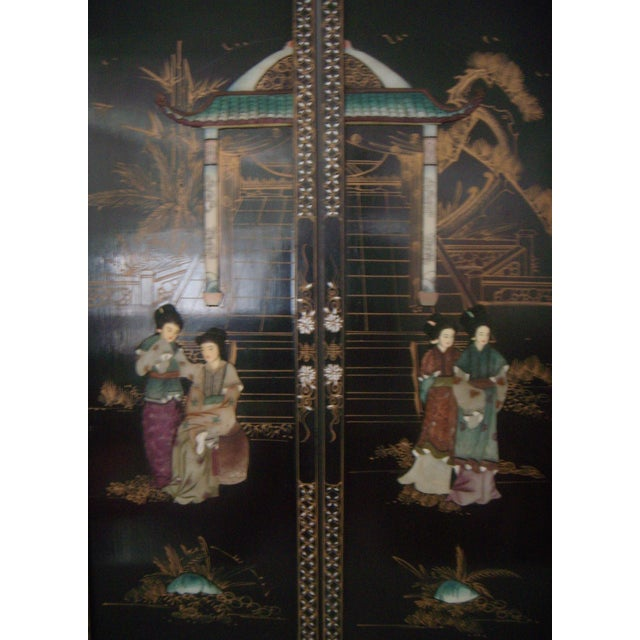"""Courtesans in the Garden"" Wall Hangings (Four) - Image 2 of 8"