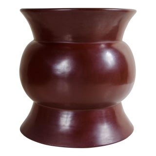 Zun Drumstool - Red Bean Lacquer
