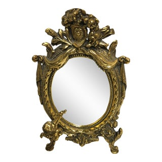Hollywood Regency Ornate Cherub Vanity Mirror