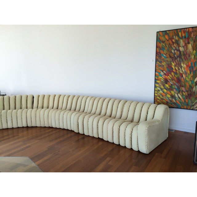 DeSede Non-Stop Sectional in Ivory Suede - Image 4 of 5