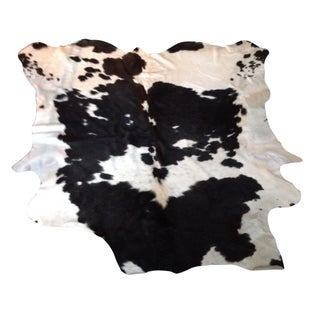 Black and White Natural Cowhide Rug - 6' x 7'