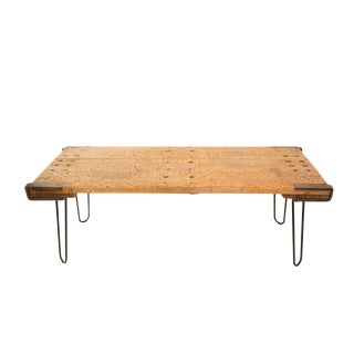 Industrial Reclaimed Wood & Hairpin Legs Coffee Table
