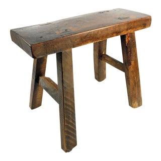 Primitive Rustic Handmade Wooden Stool