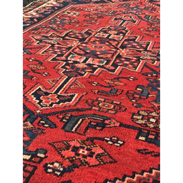 "Vintage Persian Zanjan Short Runner - 2'9"" x 6' - Image 8 of 10"