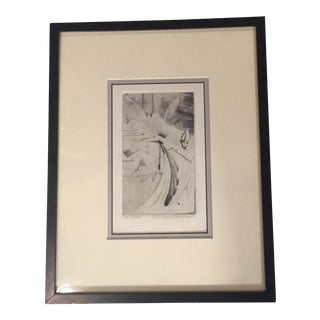 "Contemporary Original Etching""Flight"" by VanDommelen"