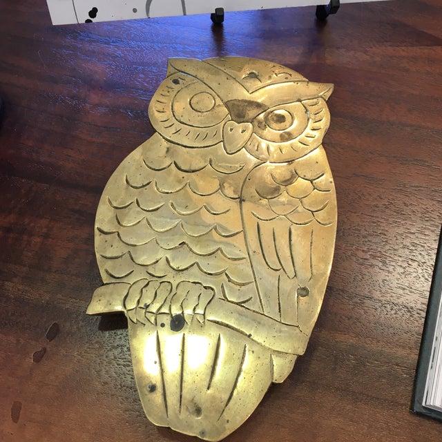 Vintage Brass Owl Trivet - Image 8 of 8