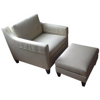 Ethan Allen Monterey Chair & Ottoman Set