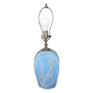 Light Blue Abstract Sailboat Lamp