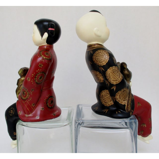 Image of Porcelain Shelf-Sitters, a Pair