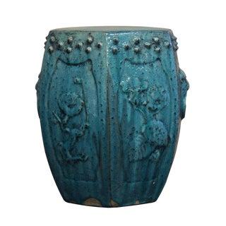 Chinese Green Glaze Hexagon Ceramic Stool