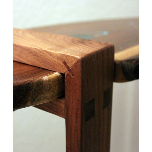 Saturn Inlaid Walnut Console Table - Image 4 of 4