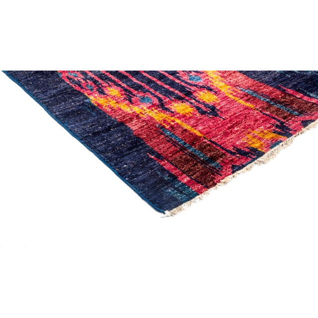 """Image of Ikat Hand Knotted Area Rug - 5'9"""" X 9'6"""""""