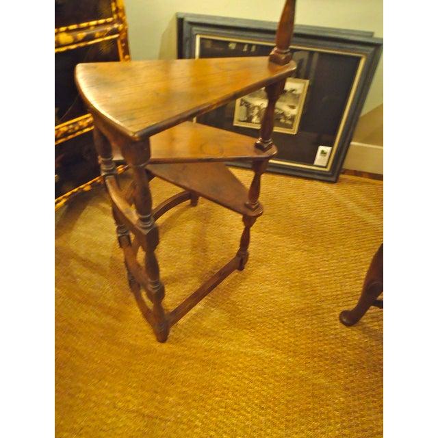 Image of Vintage English Oak Library Steps