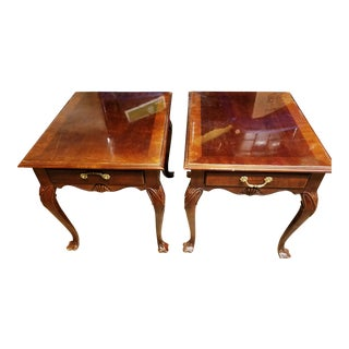 Bernhardt French Provincial Side Tables - A Pair