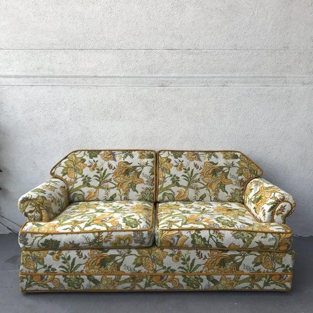 Vintage Mid-Century Modern Upholstered Floral Sofa - Image 2 of 8