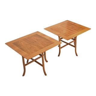 PAIR OF SABRE LEG SIDE TABLES BY T.H. ROBSJOHN GIBBINGS FOR WIDDICOMB, 1950S