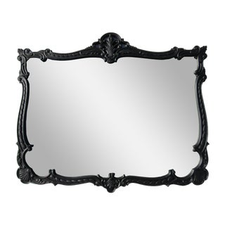 French Provincial Large Black Mirror