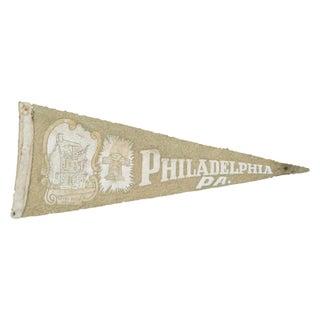 Vintage Philadelphia Felt Flag Banner