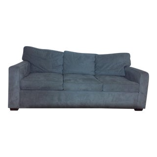 Pottery Barn 3 Seat Metal Gray Everydaysuede Sofa