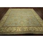 Image of Square Pakistani Blue Chobi Wool Area Rug 5' x 5'