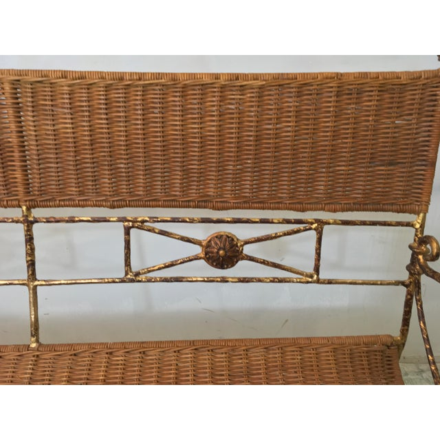 Neo-Classical Style Wicker Settee - Image 4 of 4