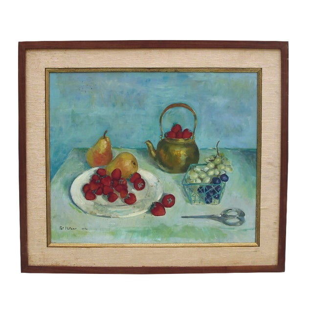 1960s Still Life Acrylic on Canvas - Image 1 of 6