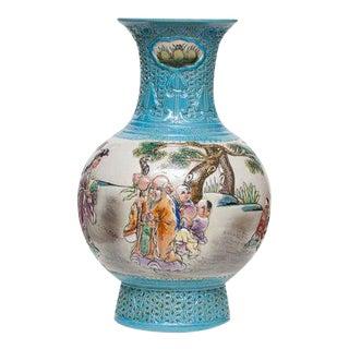 Carved Qianlong Porcelain Vase