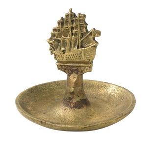 Brass Ship Dish