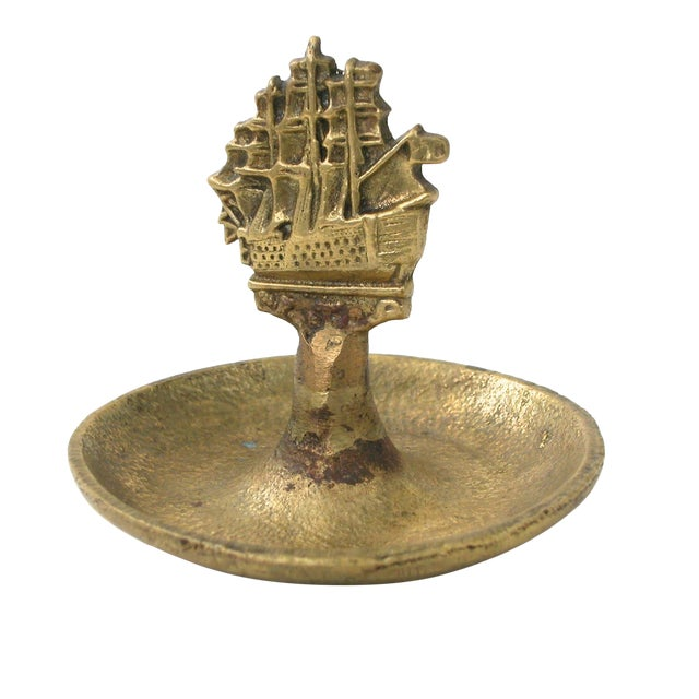 Brass Ship Dish - Image 1 of 9