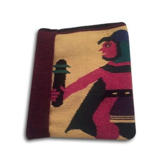 Vintage Aztec Warrior Tribal Blanket