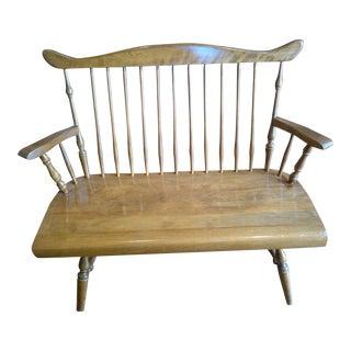 Early American Maple Deacon's Bench
