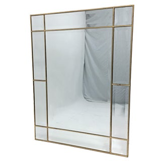 Contemporary Gilded & Beveled Mirror