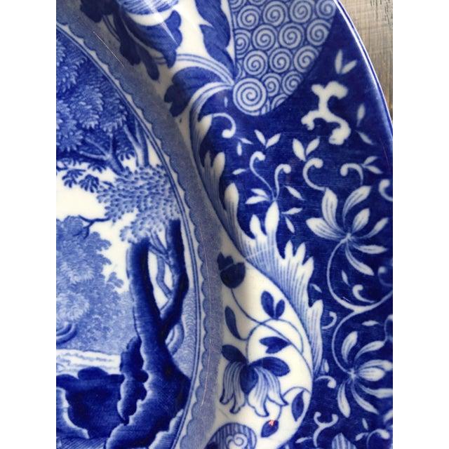 Antique Spode Italian Blue & White Transferware Plates - A Pair - Image 4 of 8