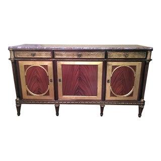 "Stunning Wood & Marble ""Vintage-Modern"" Credenza"