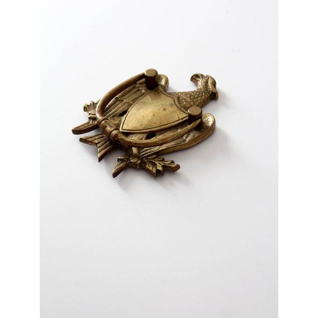 Image of Antique Brass Eagle Door Knocker